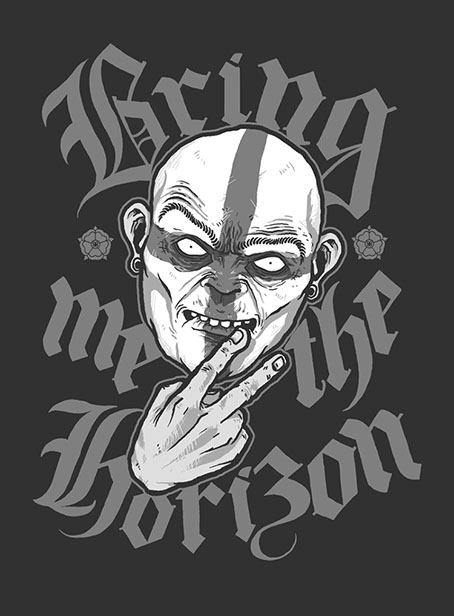 t shirt design for bring me the horizon uk